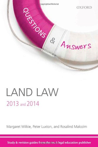 Q & A Revision Guide Land Law 2013 and 2014 (Questions & Answers)