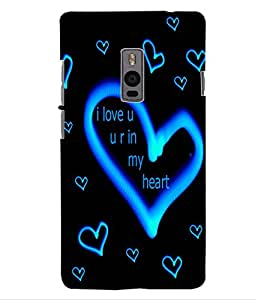 ColourCraft Love Quote with Image Design Back Case Cover for ONEPLUS TWO
