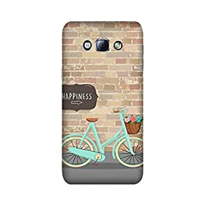StyleO Samsung Galaxy A8 Designer Printed Case & Covers (Samsung Galaxy A8 Back Cover) - Happiness Bicycle
