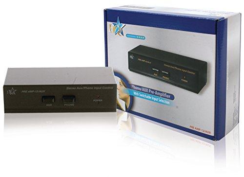 HQ PRE AMP-12/AUX Pre-amplificateur stéréo avec entrée Aux commutables