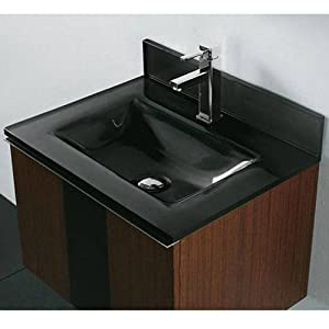 Tempered glass countertop bathroom sink sink finish zen for Tempered glass countertop