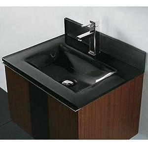 Tempered Glass Countertop Bathroom Sink Sink Finish Zen Black Bathroom Vanities