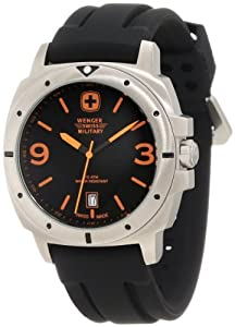 Wenger Swiss Military Men's 69366 Expedition Black Rubber Analog Watch and Swiss Army Knife Gift Set