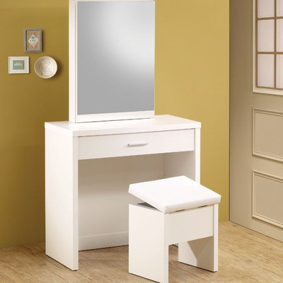 Coaster Home Furnishings 300290 Contemporary Vanity, White front-766556