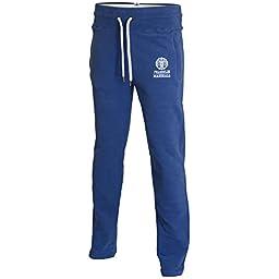 Franklin & Marshall Men\'s Regular Fit Open Leg Original Blue Tracksuit Bottom L Original Blue
