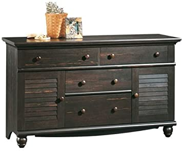 Sauder Harbor View Dresser, Antiqued Paint