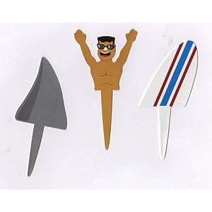 Click to buy Shark Attack Cupcake Picks - 4 sets (12 picks)from Amazon!