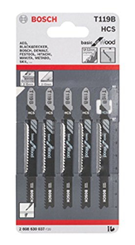 Bosch 2608630037 Lame per Seghetti Modello T119B, 5 Pezzi