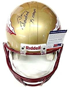 Bobby Bowden Signed Florida State Seminoles Full Size Helmet Psa dna by Sports+Memorabilia