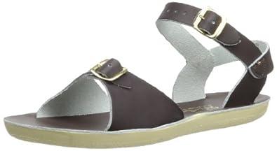 Salt Water Sandals by Hoy Shoe Sun-San Surfer, Brown,Brown,4 M US Toddler