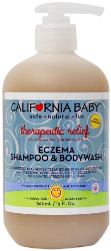 California Baby Eczema Shampoo & Bodywash - No Fragrance Therapeutic Relief - 19 oz
