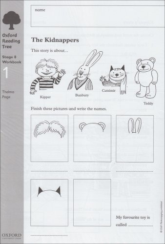 Oxford Reading Tree: Level 8: Workbooks: Workbook 1: The Kidnappers and Viking Adventures (Pack of 6) (Oxford Reading Tree Trunk)