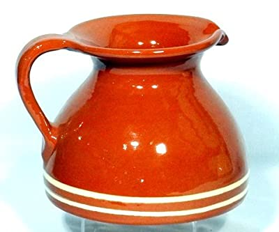 Genuine Terracotta Chubby Jug - Browncream by Be-Active