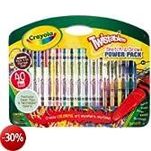Crayola - Kit di 40 elementi per il piccolo artista (pastelli a cera, pennarelli, penne)