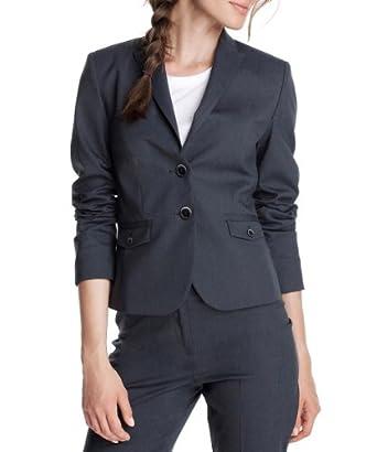 ESPRIT Collection Damen Blazer, N28260, Gr. 32, Blau (navy 408)