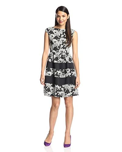 London Times Women's Floral Jacquard Dress