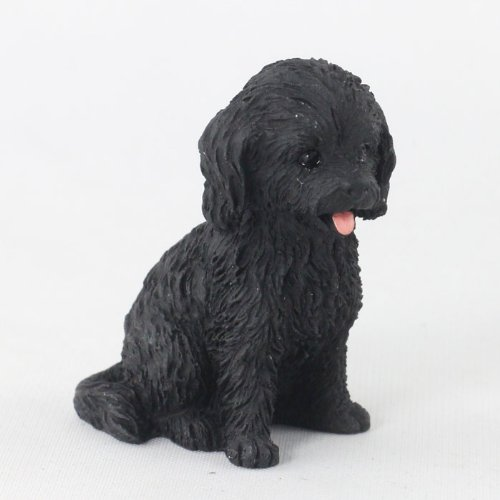 Cockapoo Black Tiny One Figurine (Set of 6)