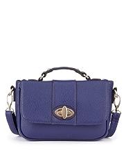M&S Collection Turn Up Lock Mini Satchel Bag