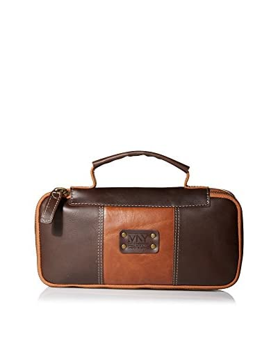 Andrew Marc Men's Express Travel Kit, Brown/Cognac