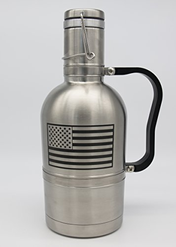 Beer City Glass 64 oz Stainless Steel Vacuum Insulated Beer Growler Water Bottle (Cool Beer Growler compare prices)
