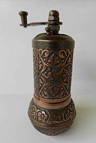 COFFEE SALT PEPPER METAL GRINDER MILL TRADITIONAL TURKISH BRASS UNUSUAL -Copper