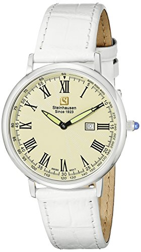Steinhausen Men's GWL493SWA Dunn Luxe Analog Display Swiss Quartz White Watch
