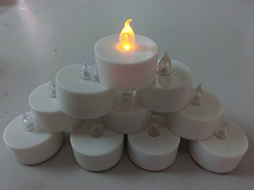 Qich® 24pcs /24 x Flickering Flicker Flameless LED Tealight Tea Candles Yellow Light Battery Operated Wedding Birthday Party Christmas Decoration