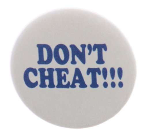 "A&T Designs Don't Cheat !!! 2.25"" Keychain Anti Cheating"