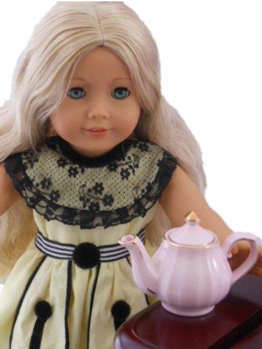"Kitchen Dish Accessory for 18"" American Girl® Doll Furniture, Princess Pink Mini Fine China Tea Pot - 1"