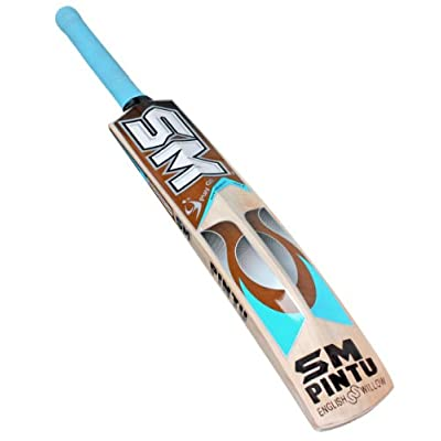 SM Top Shot English Willow Cricket Bat, Short Handle