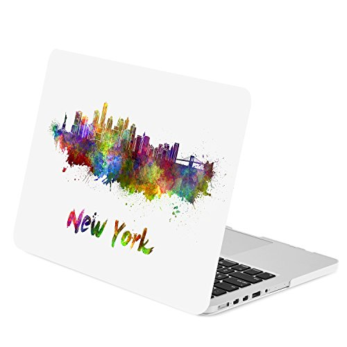 TOP CASE - Retina 13-Inch City Skyline Graphics Rubberized Hard Case Cover for Macbook Pro 13