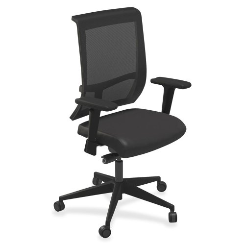 "Mayline Commute Series Mesh Back Task Chairs-Mesh Back Chairs, 25""x23""x41""-45"", Vinyl/Black"