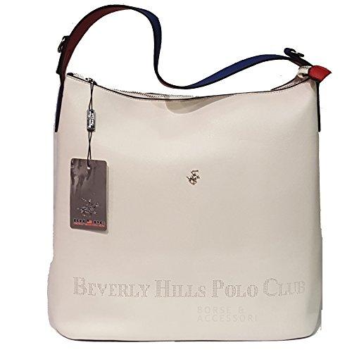Beverly Hills Polo Club Borsa donna Sacca grande BH581 bianco