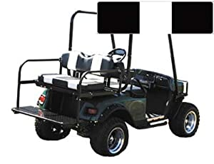 SEAT COVER SET,BLK/WHT,FRONT,Club Car Golf Cart 0004 DS