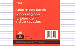 6 PACK: Mead Ruled Index Cards, 5 X 8 Inches (63580)