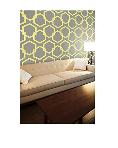 Tempaper Designs Honeycomb Self-Adhesive Temporary Wallpaper, Citron, 20.5 x 33'
