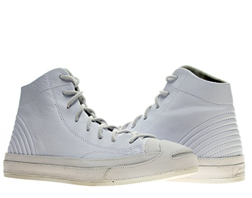 Converse Jack Purcell Quilt High Top Shoes 146820C White 10 D(M) US Men (Converse Jack Purcell White compare prices)