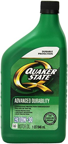 Quaker State 550035170 Advanced Durability 10W30 Lubricant Motor Oil - 1 quart (10w30 Oil 1 Quart compare prices)