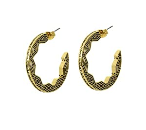 House of Harlow 1960 Macedonian Sunburst Hoop Earrings