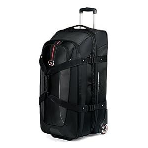 High Sierra Expandable Wheeled Duffel Bag, Black