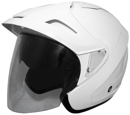 Cyber Helmets U-378 Solid Helmet , Size: XS, Primary Color: White, Distinct Name: White, Helmet Category: Street, Helmet Type: Open-face Helmets, Gender: Mens/Unisex 640487
