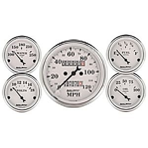 Autometer 1601 Old Tyme White Series W Kit Box Speedometers