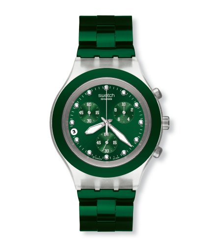 Swatch Full Blooded Green Gents Chronograph Watch