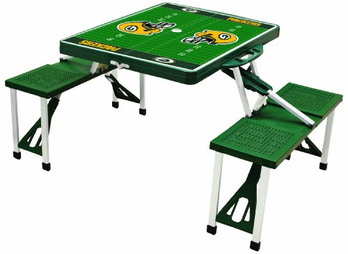 NFL Green Bay Packers Football Field Design Portable Folding Table/Seats, Green at Amazon.com