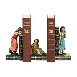 Sterling Home Child Games Bookend Trio, 7-1/4-Inch Tall