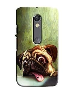 Blue Throat Dog Scaring Printed Designer Back Cover/ Case For Motorola Moto X Play