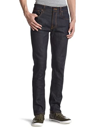 Nudie Men's Jeans THIN FIN Dry Ecru Embo 28