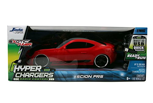 Jada Toys HyperChargers Scion FRS Tuner/Exotic Remote Controlled Vehicle (1:16), Red (Scion Frs Model compare prices)