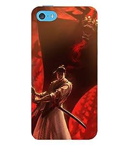 printtech Samurai Aku Cartoon Back Case Cover for Apple iPhone 5C