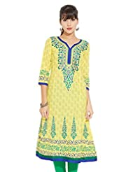 LOVELY LADY Ladies Cotton Solid KURTI - B00ZCCINRI